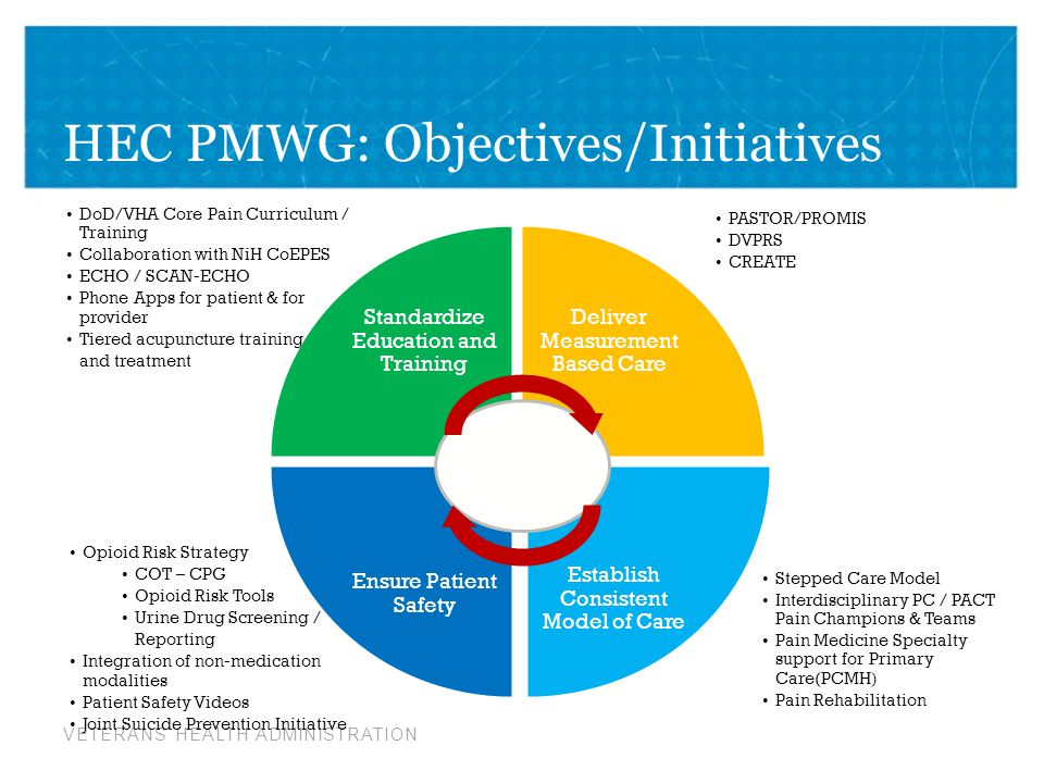 HEC PMWG: Objectives/Initiatives