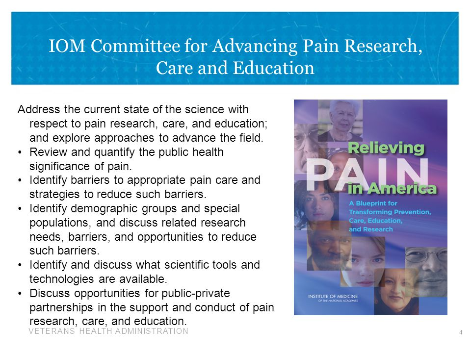 IOM Committee for Advancing Pain Research, Care and Education
