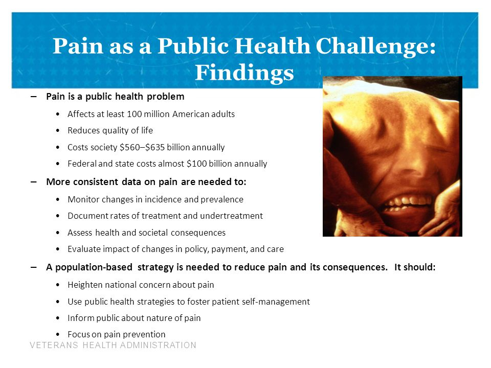Pain as a Public Health Challenge: Findings