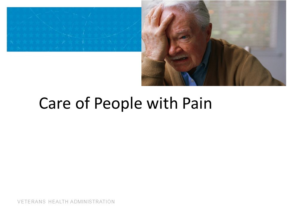 Care of People with Pain