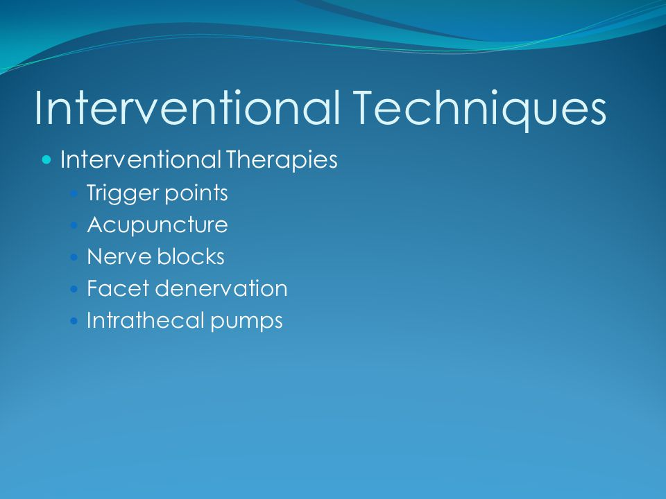 Interventional Techniques