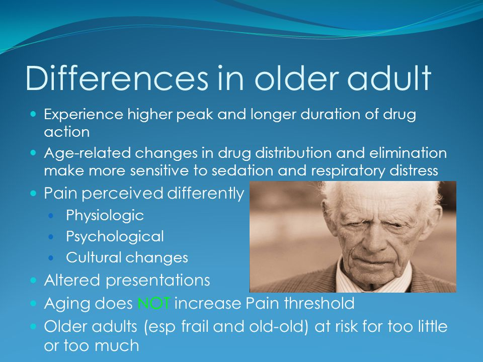 Differences in older adult