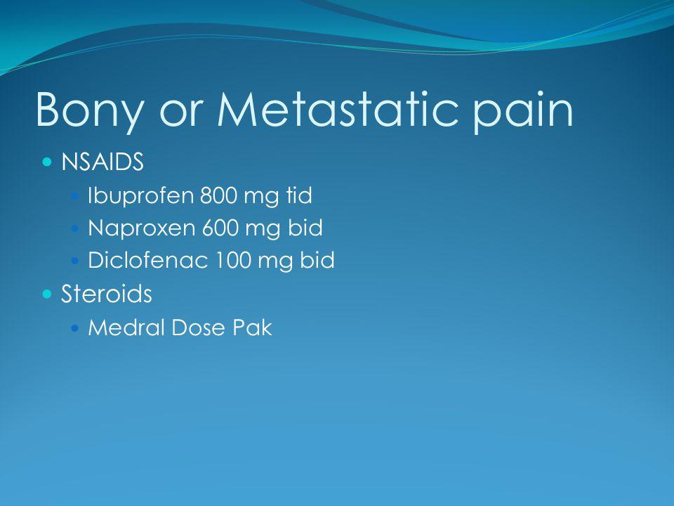 Bony or Metastatic pain