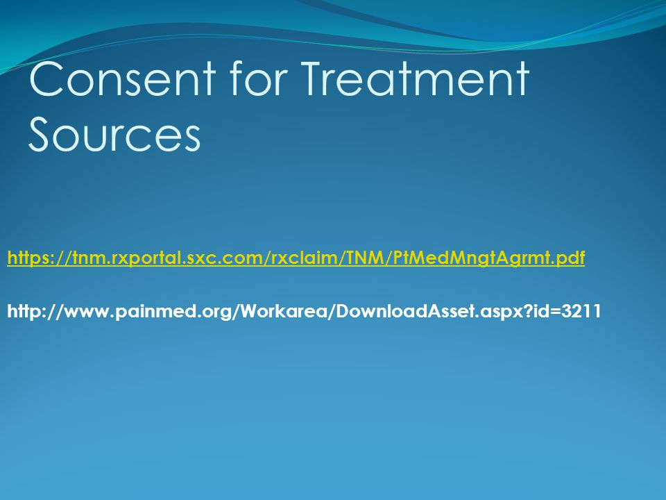 Consent for Treatment Sources