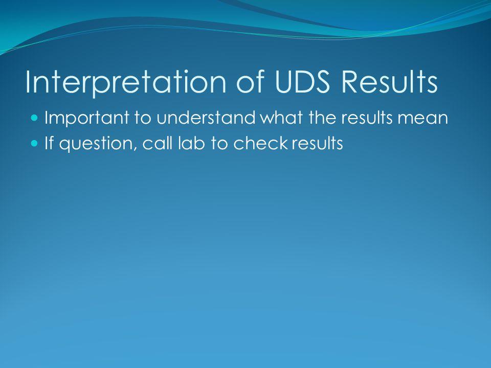 Interpretation of UDS Results