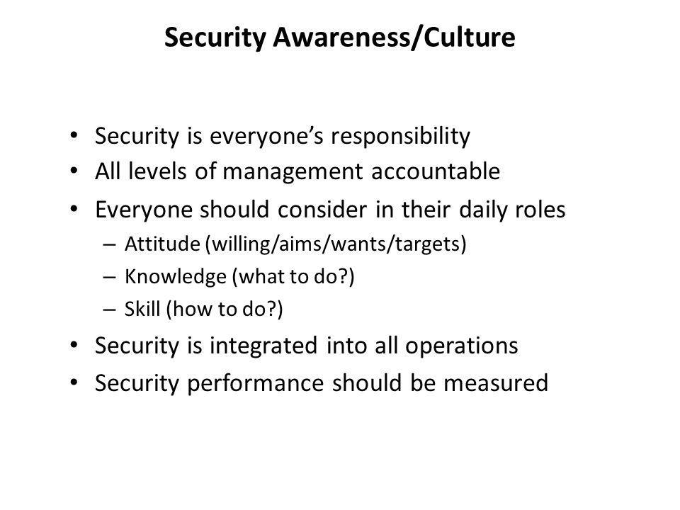 Security Awareness/Culture