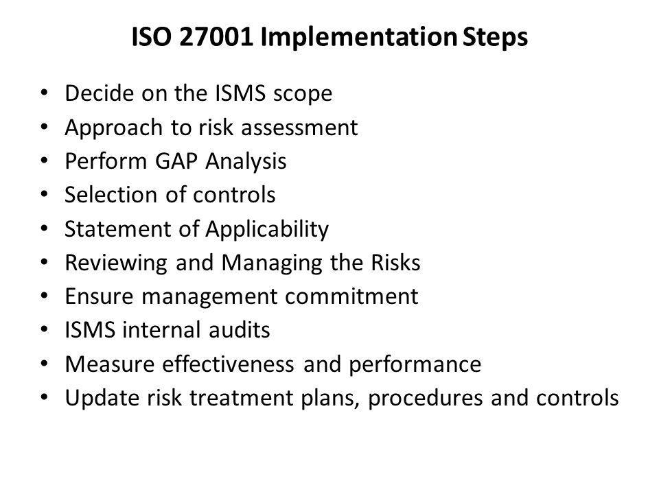 ISO 27001 Implementation Steps