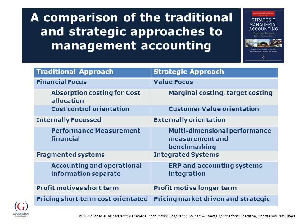A comparison of the traditional and strategic approaches to management accounting