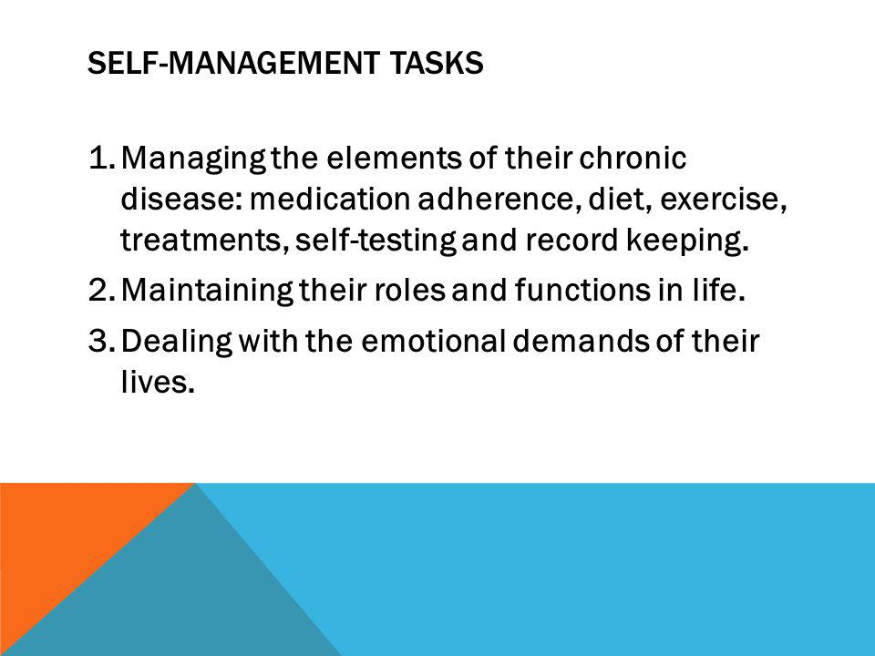 Self-management tasks