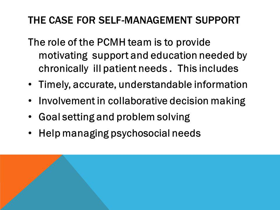 The case for self-management support