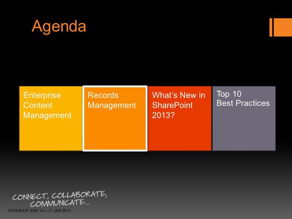 Agenda Enterprise Content Management Records Management
