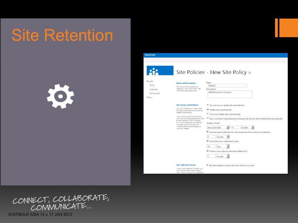 Site Retention