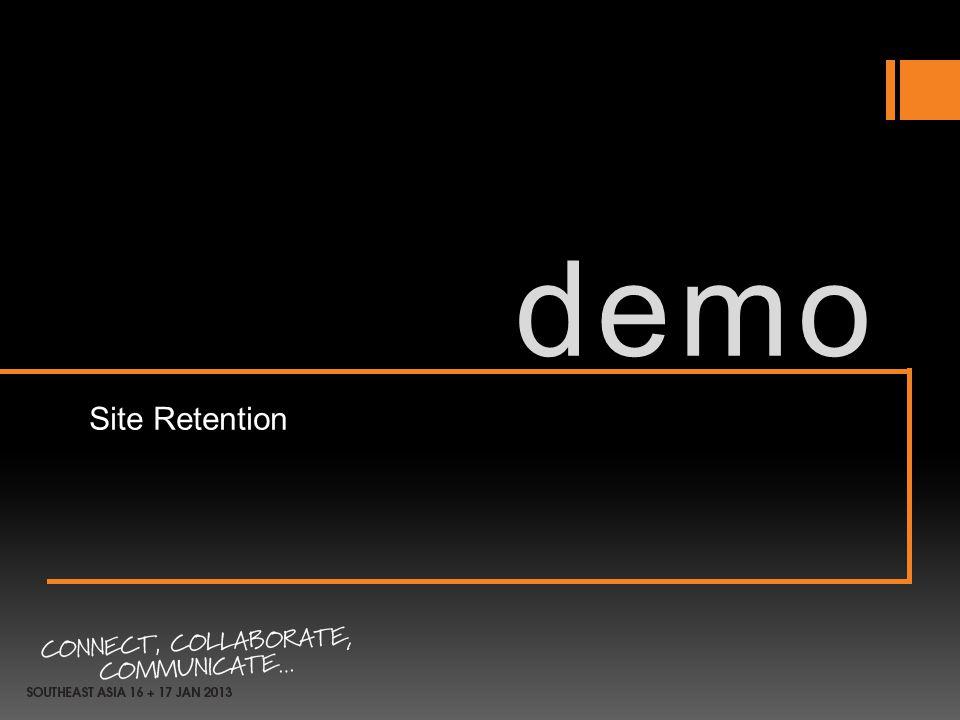 demo Site Retention 3/31/2017 10:39 PM