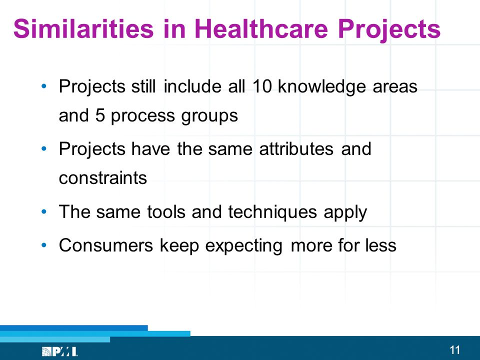 Similarities in Healthcare Projects
