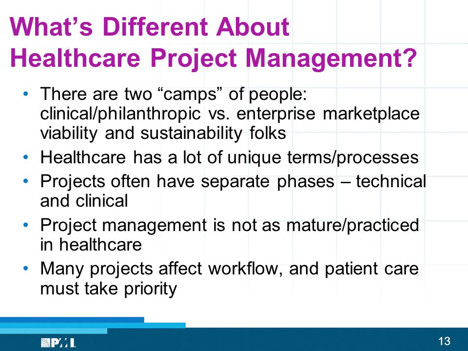 What's Different About Healthcare Project Management