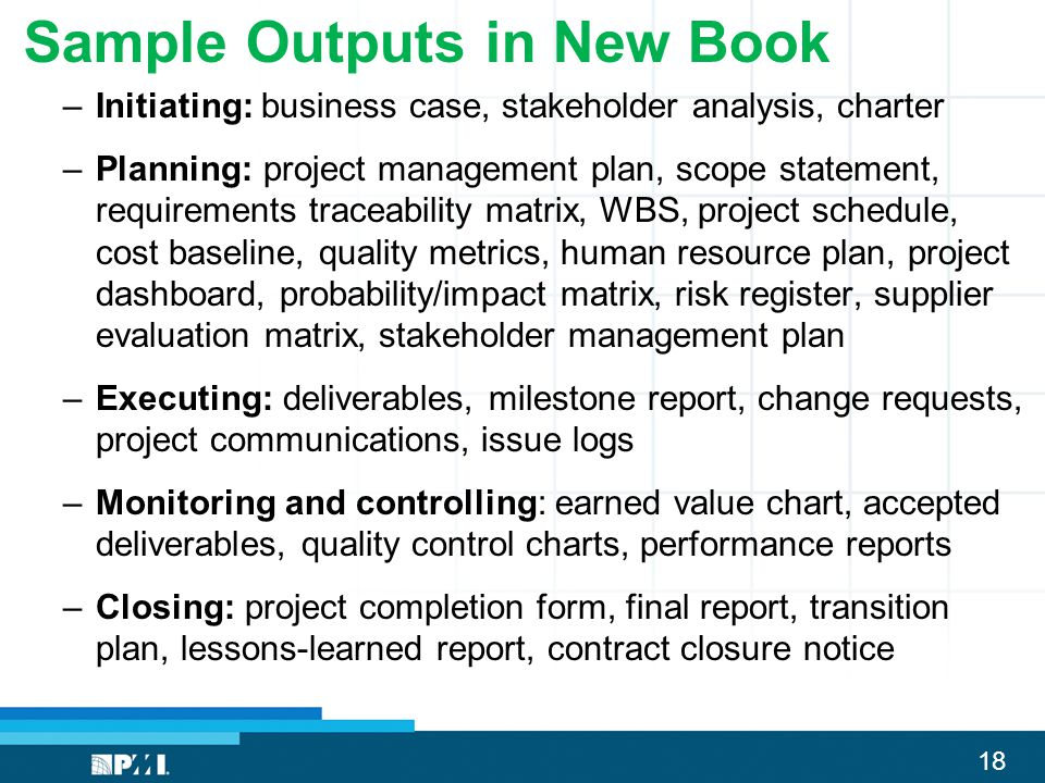 Sample Outputs in New Book