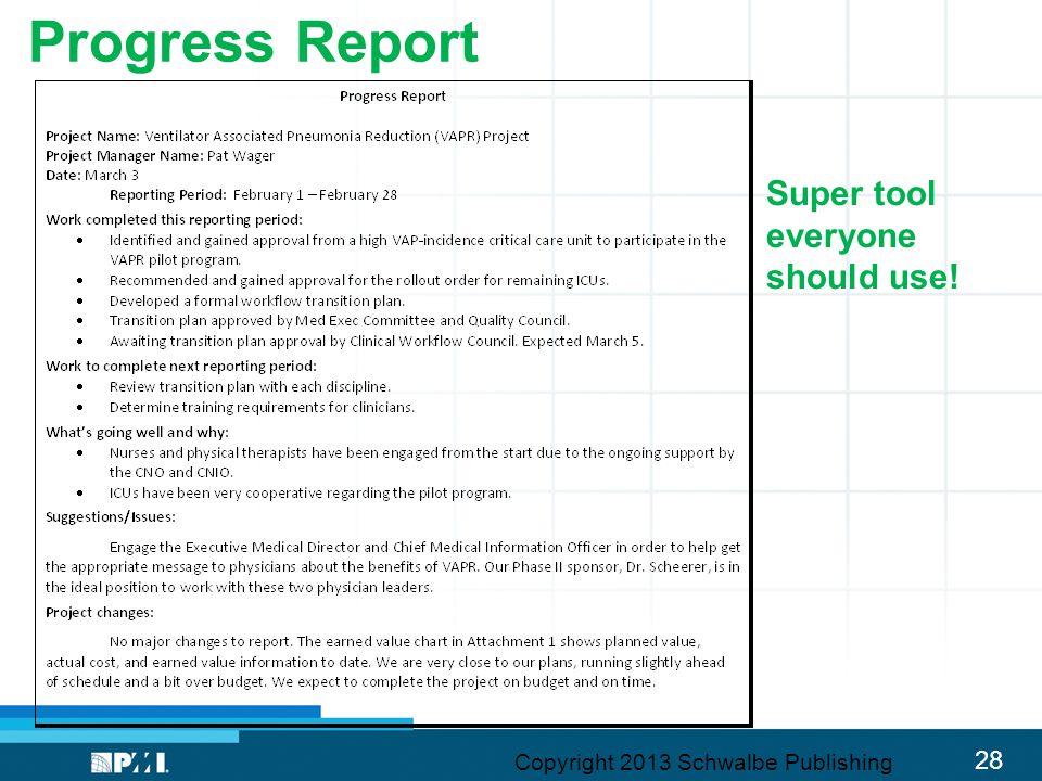 Progress Report Super tool everyone should use!