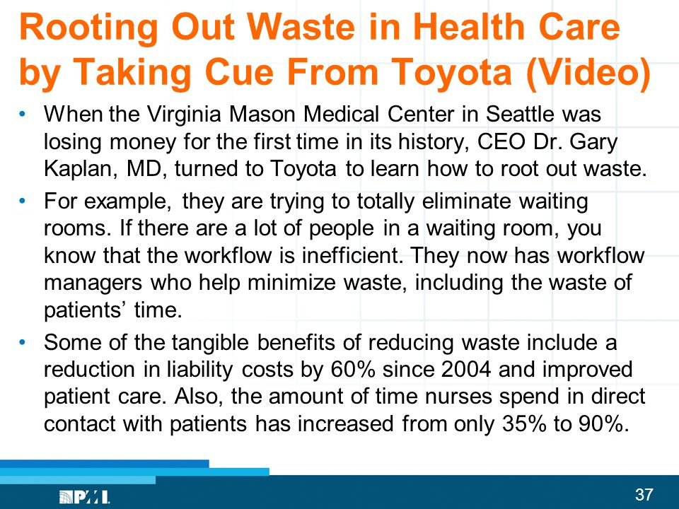 Rooting Out Waste in Health Care by Taking Cue From Toyota (Video)
