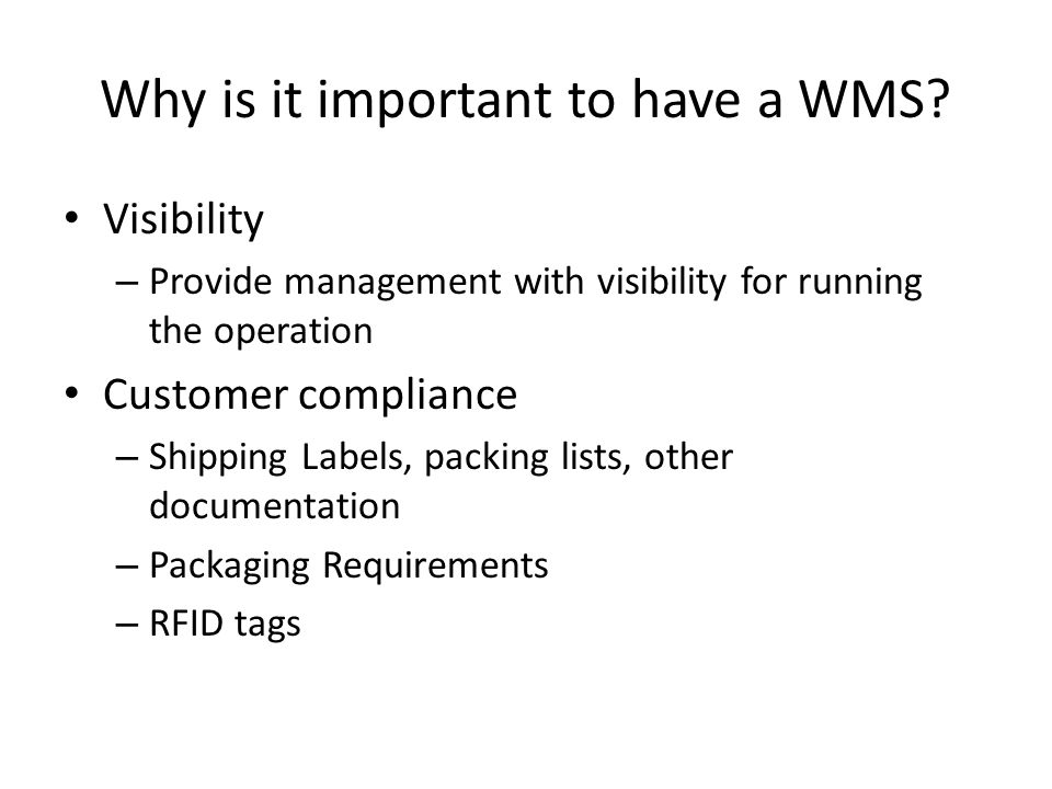 Wms Warehouse Management Systems Ppt Video Online Download