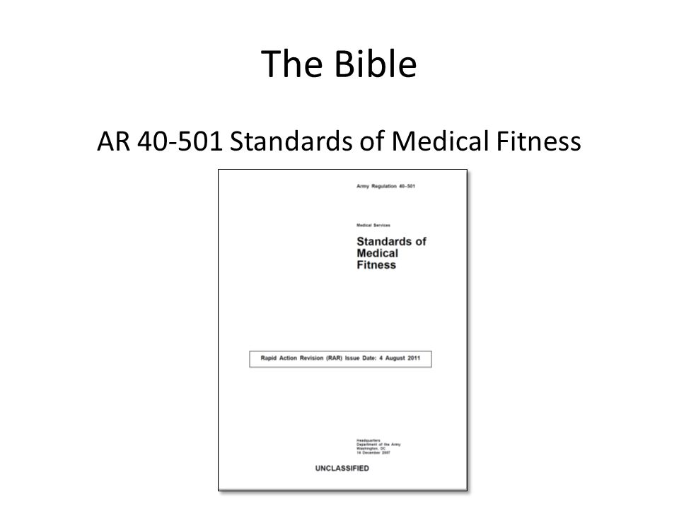 AR 40-501 Standards of Medical Fitness