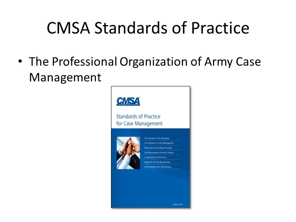 CMSA Standards of Practice