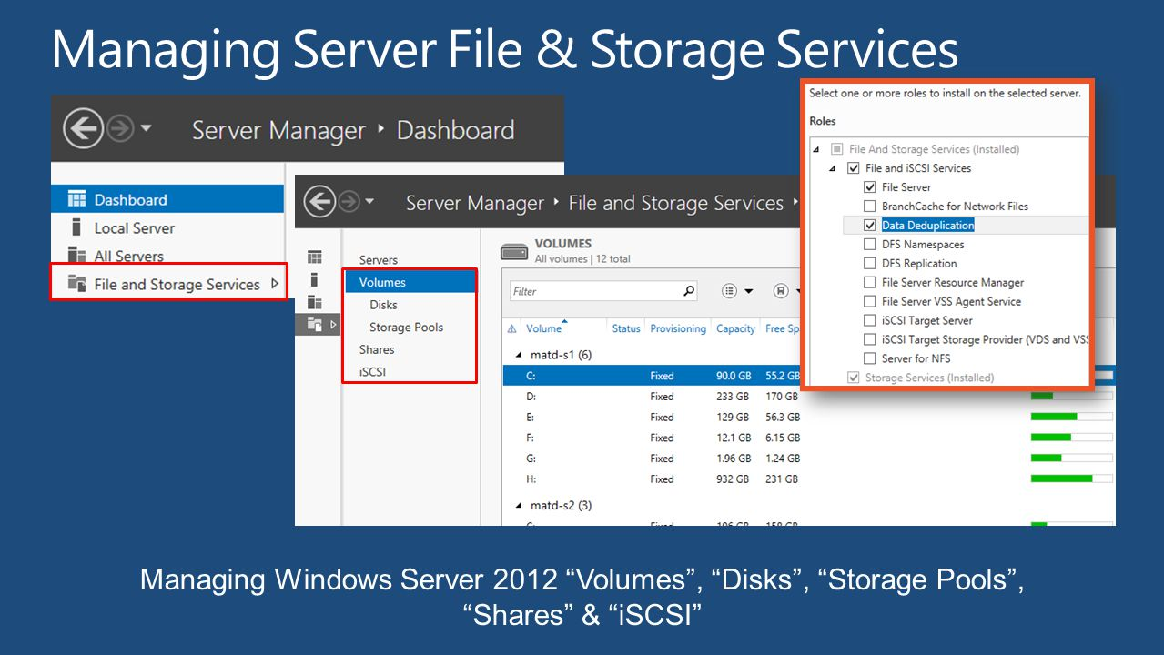 Managing Server File & Storage Services