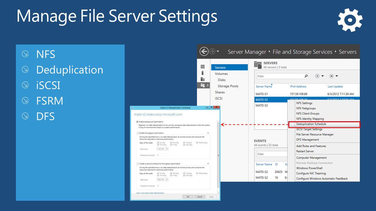 Manage File Server Settings