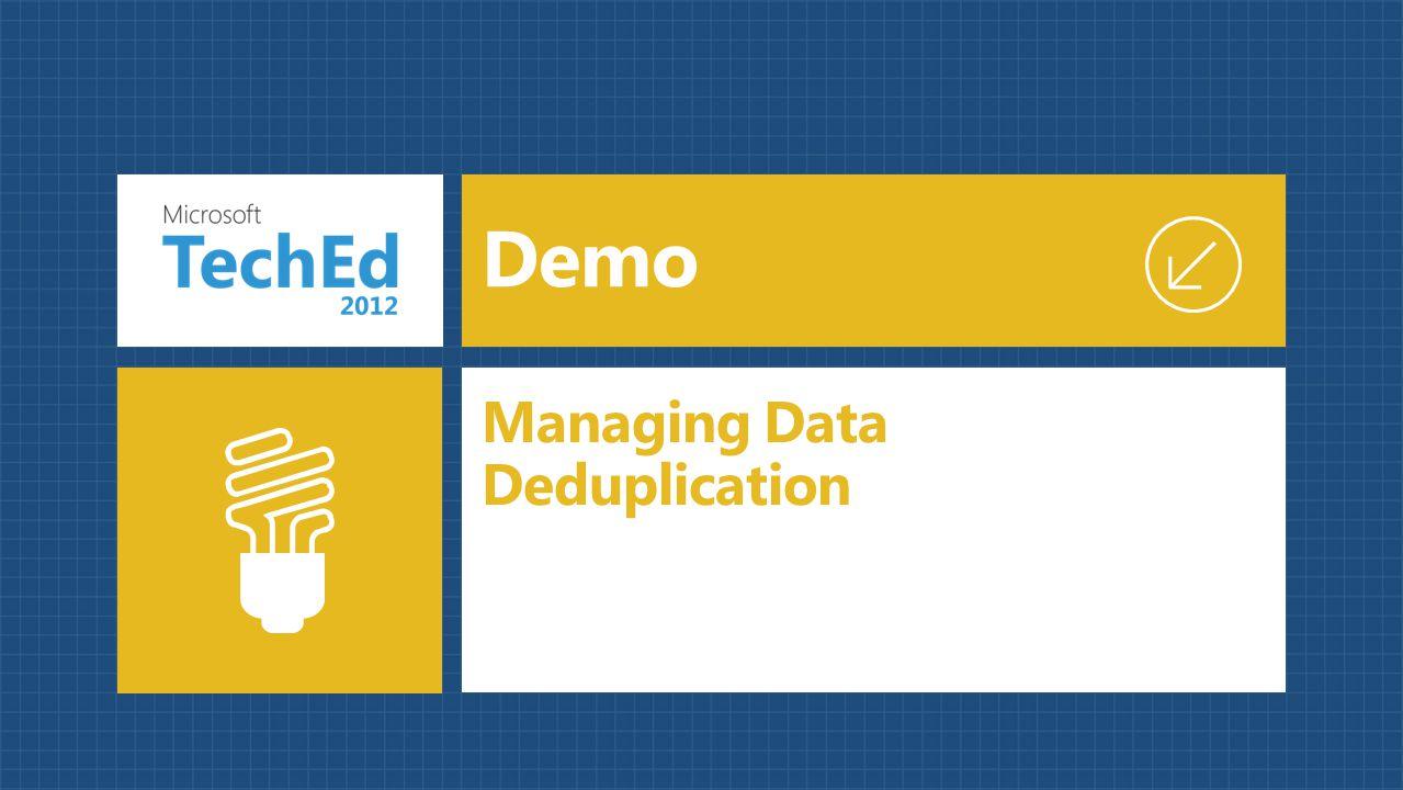 Managing Data Deduplication