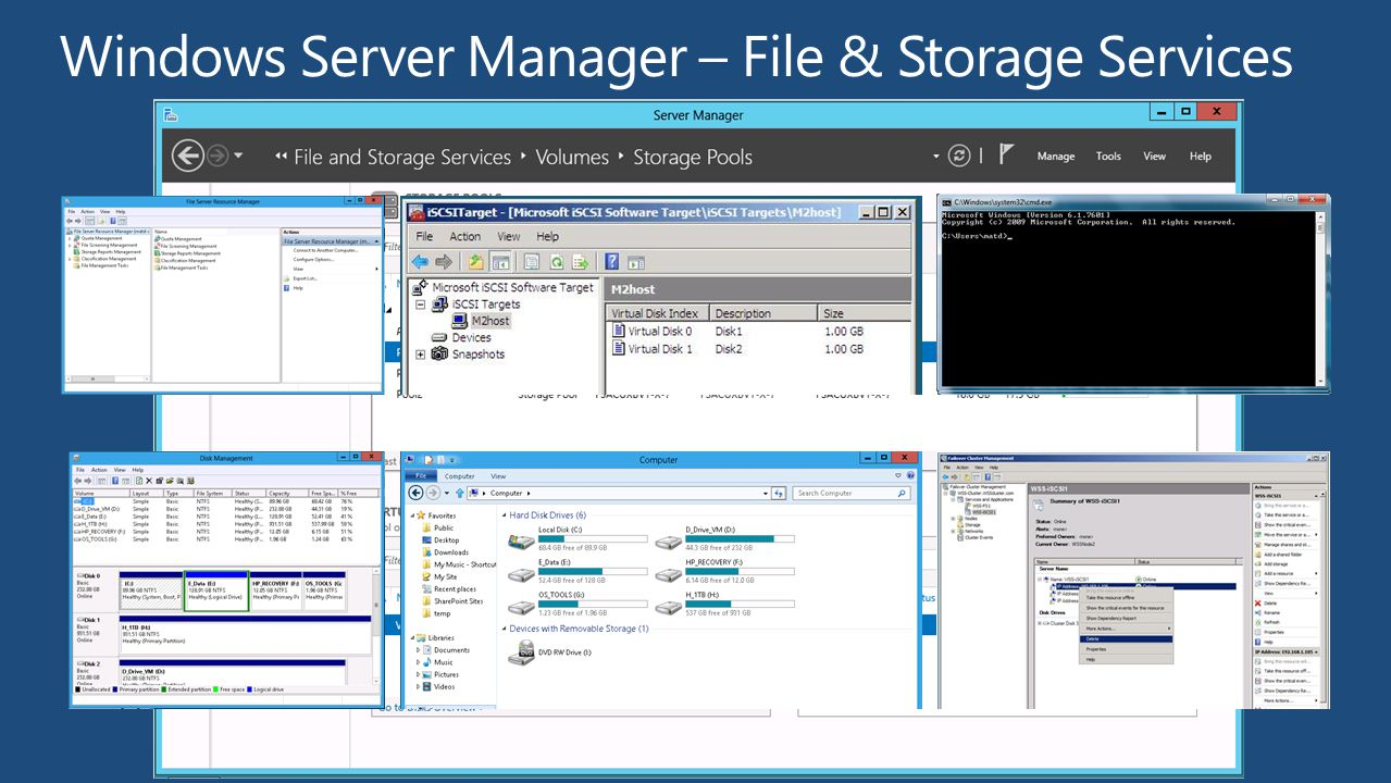 Windows Server Manager – File & Storage Services