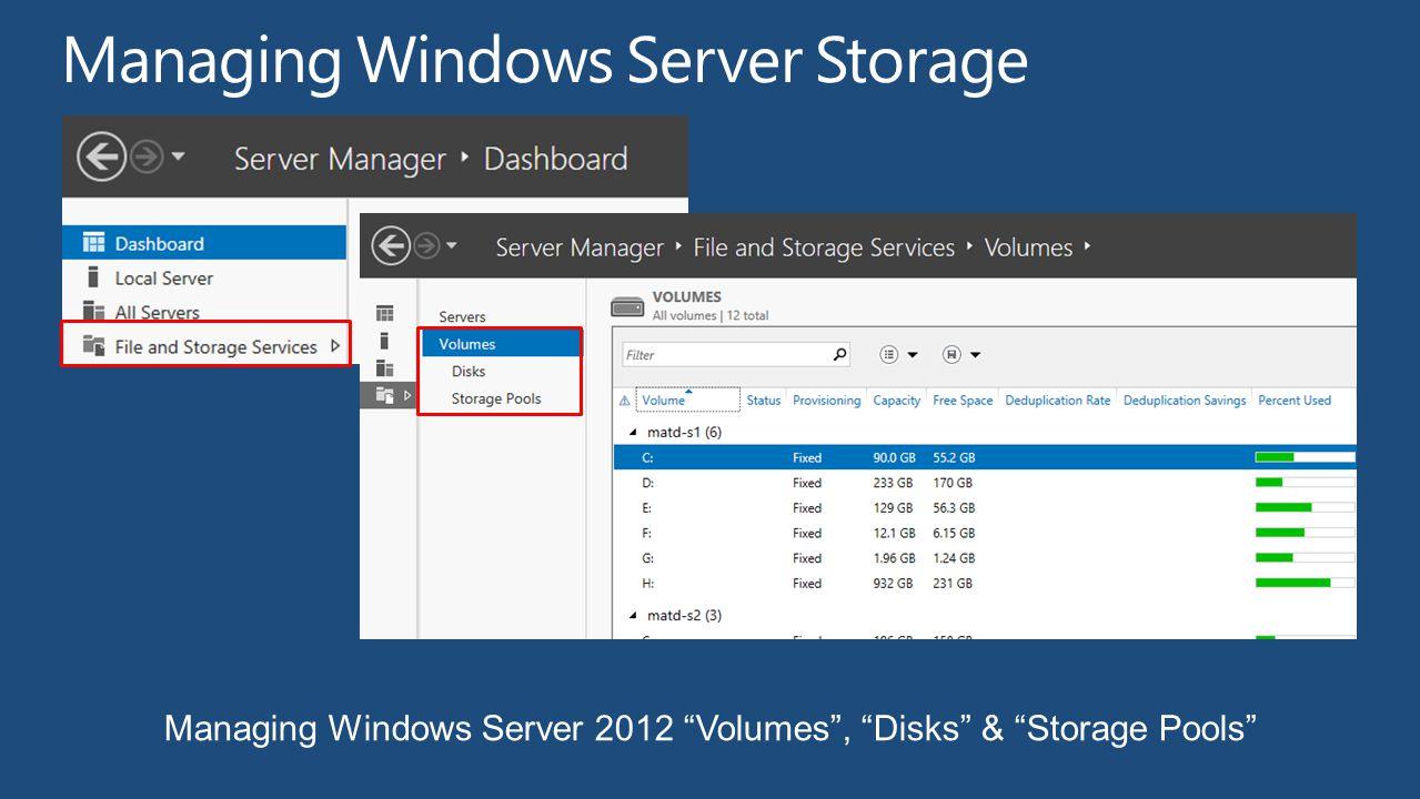 Managing Windows Server Storage