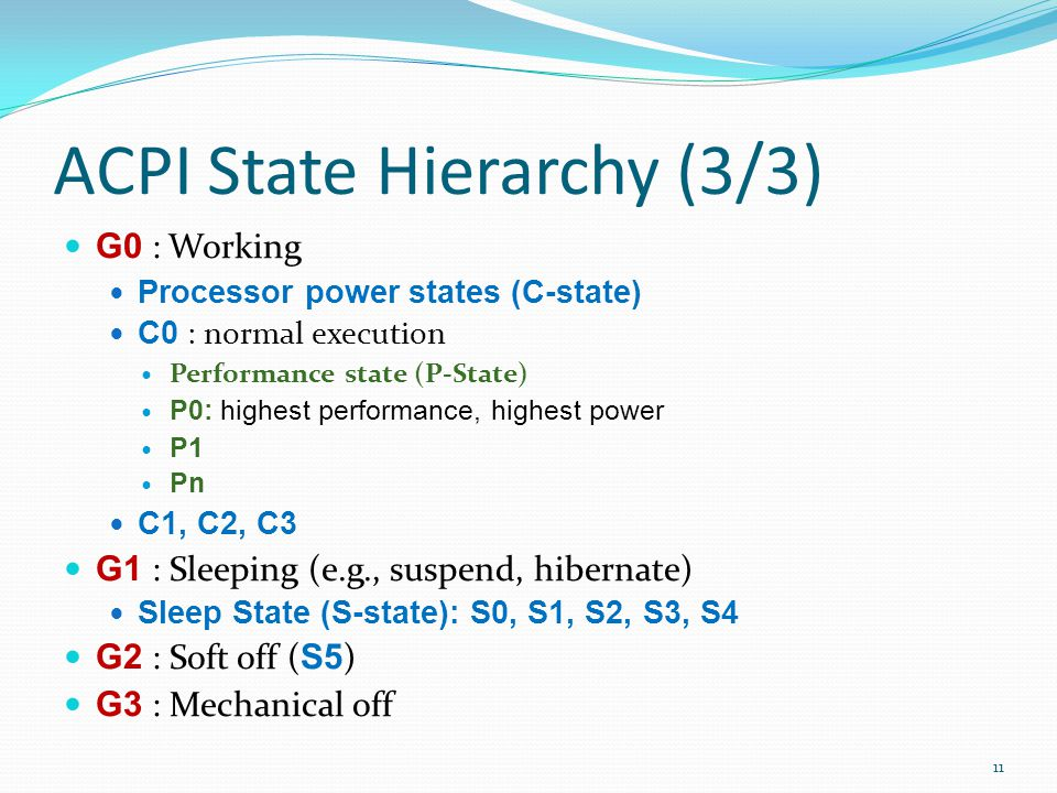 ACPI State Hierarchy (3/3)