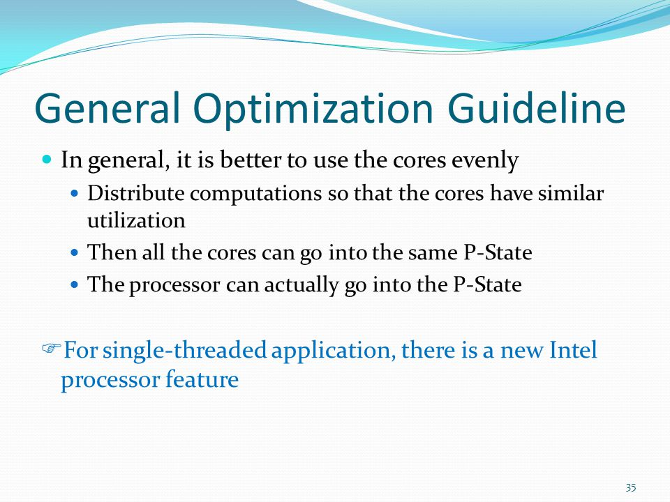 General Optimization Guideline