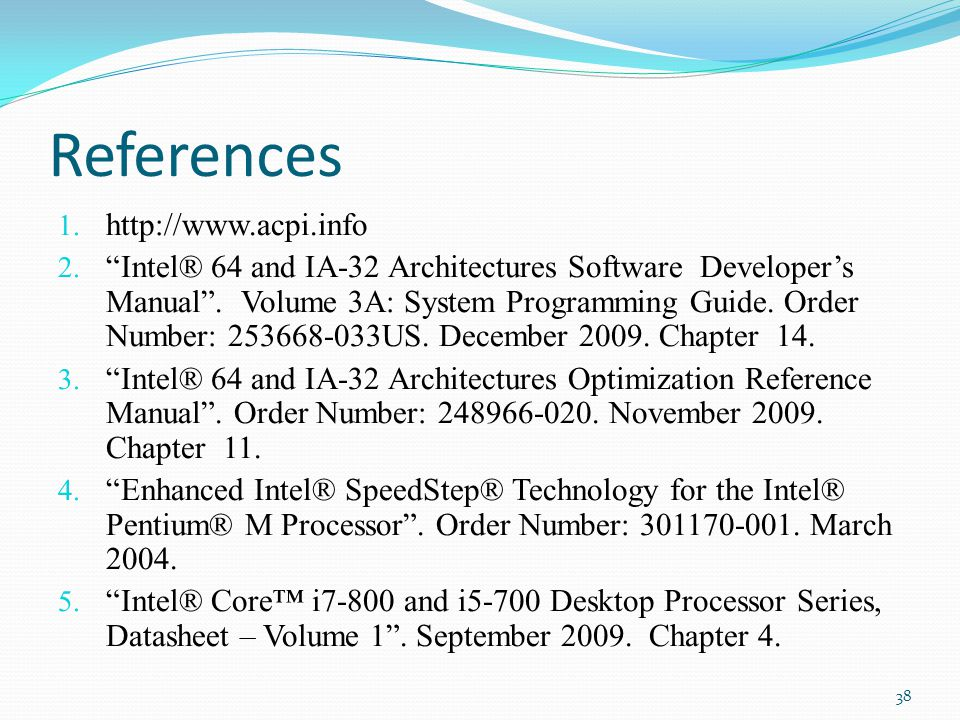 References http://www.acpi.info