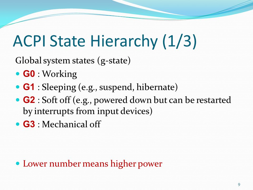 ACPI State Hierarchy (1/3)