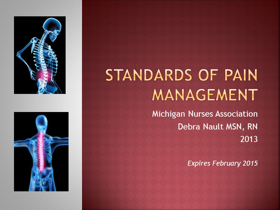 Standards of pain management