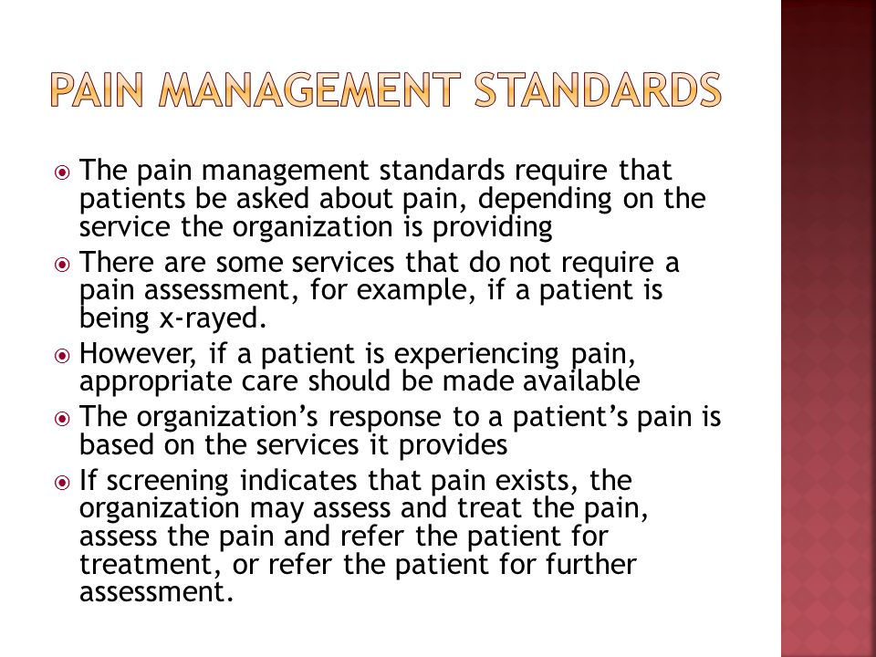 Pain Management Standards