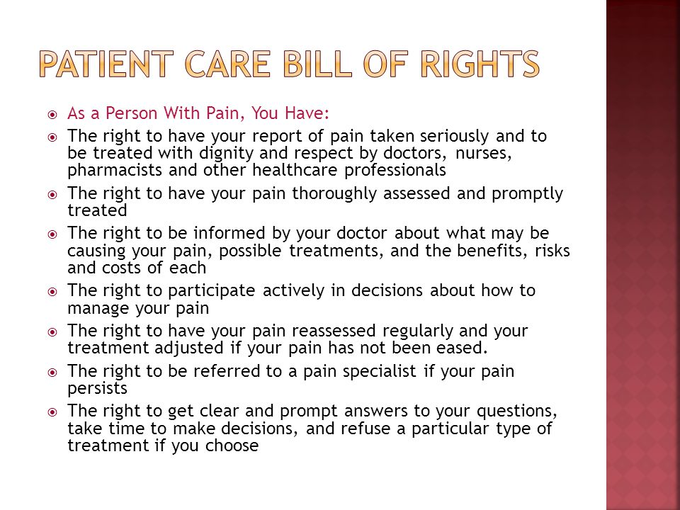 Patient Care Bill of rights