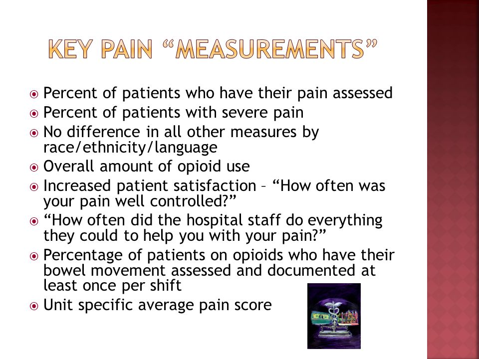 Key Pain measurements