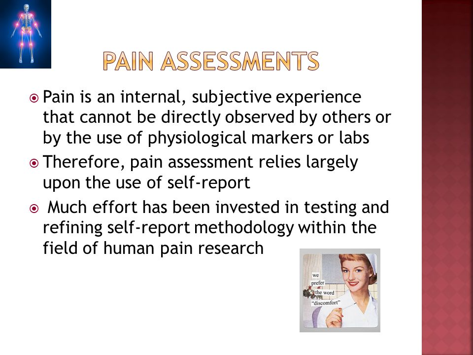 Pain assessments