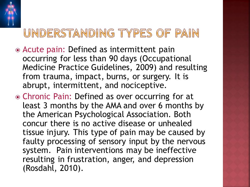 Understanding types of pain