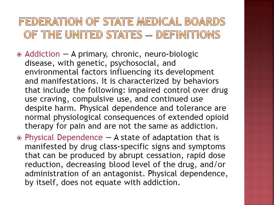 Federation of State Medical Boards of the United States — definitions