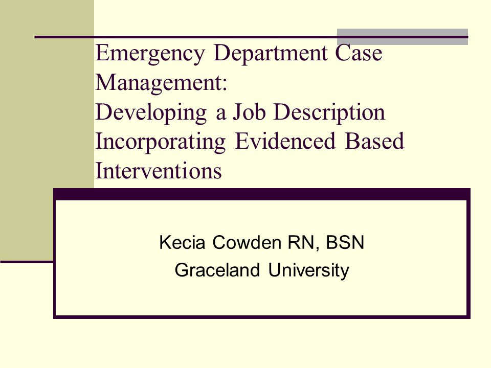 Kecia Cowden RN, BSN Graceland University