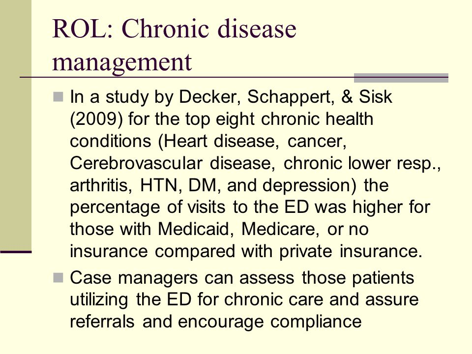 ROL: Chronic disease management