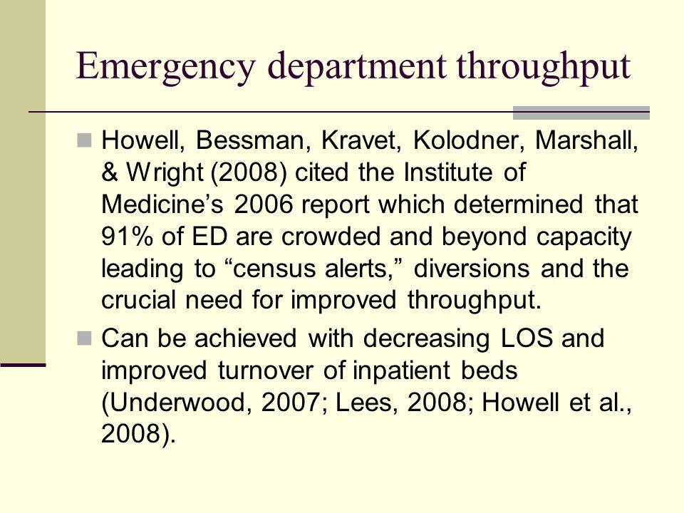 Emergency department throughput