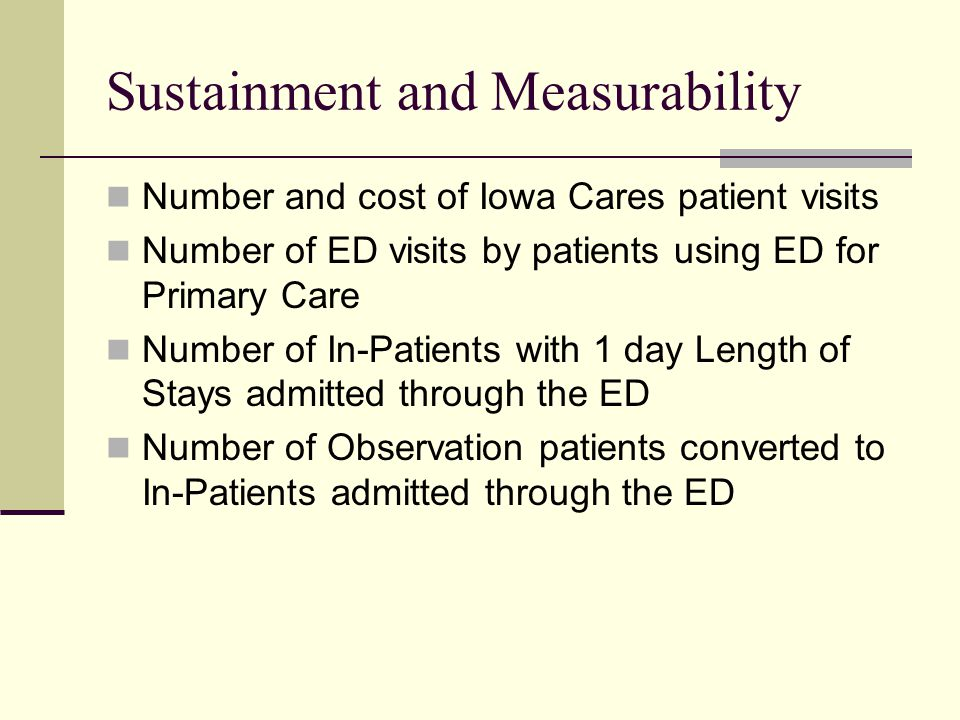 Sustainment and Measurability