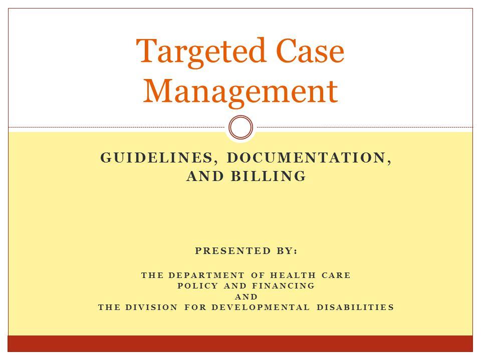 Targeted Case Management