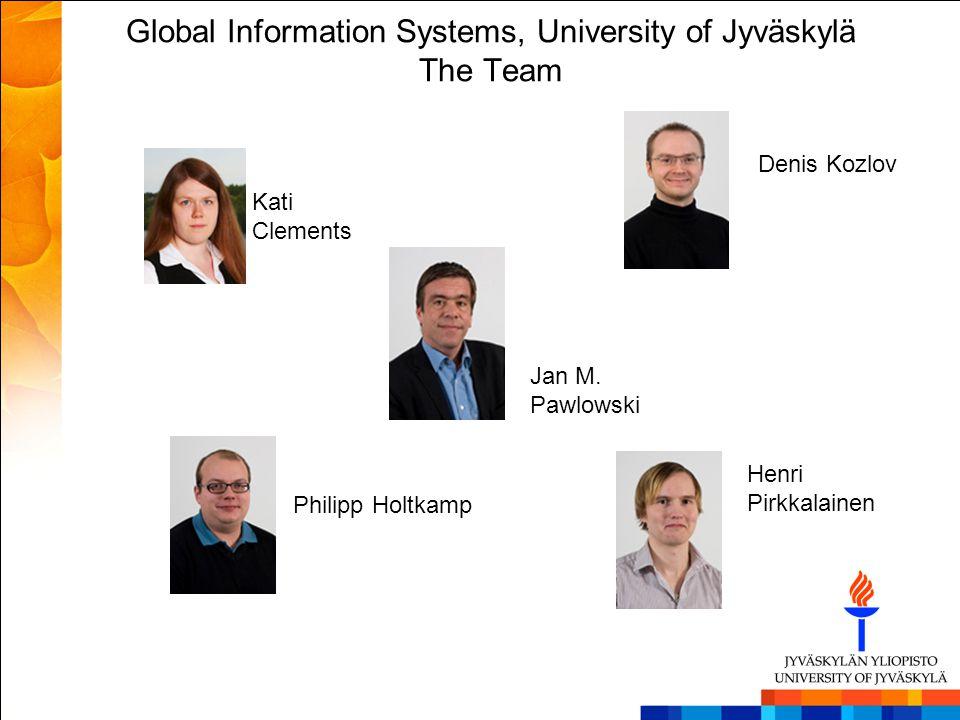 Global Information Systems, University of Jyväskylä The Team