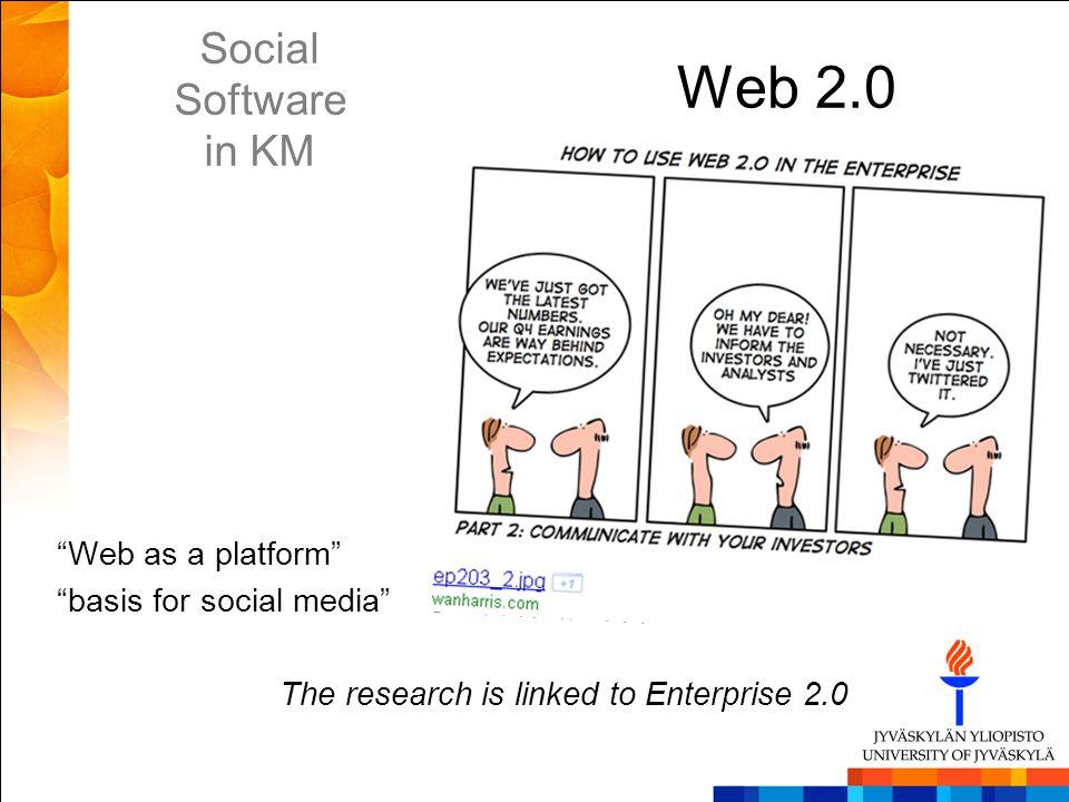 Web 2.0 Social Software in KM
