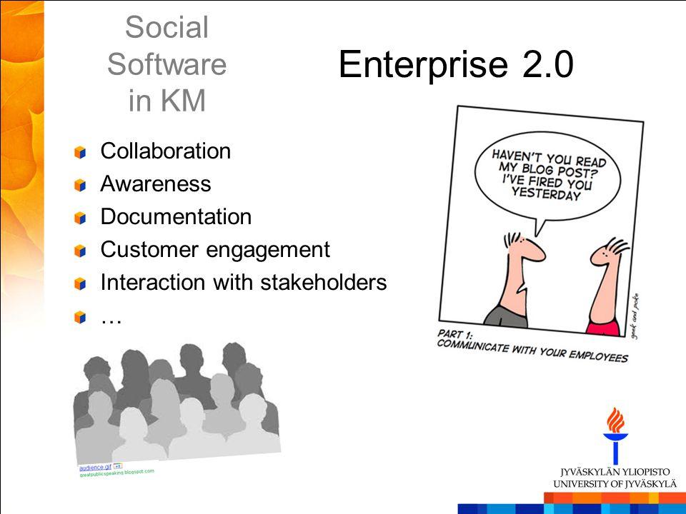 Enterprise 2.0 Social Software in KM Collaboration Awareness