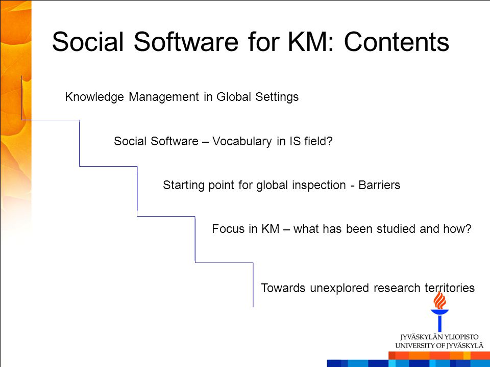 Social Software for KM: Contents
